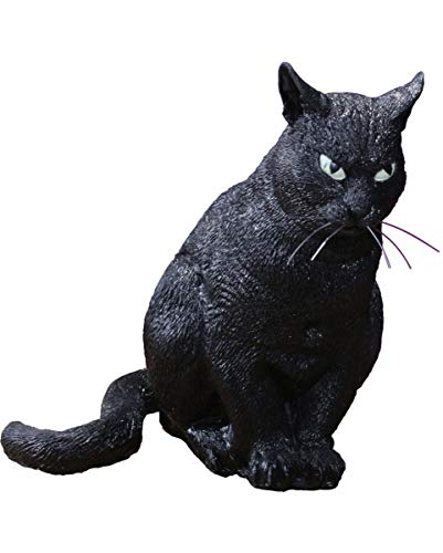 Horror-Shop Schwarze Halloween Katze als Deko