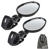 EEEKit Mini specchietti retrovisori per manubrio bicicletta, universale per bicicletta, 2 pezzi