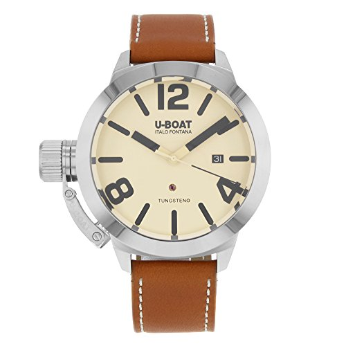 U-Boat Classico Automatic Watch, Stainless Steel 316L, Beige, 50mm, 8091