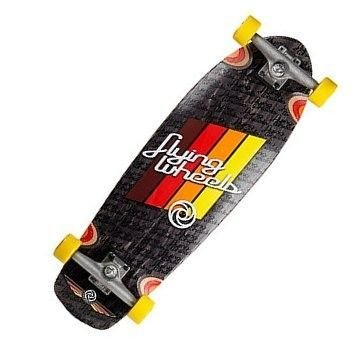 Flying Wheels, Longboard, Rosso (rot), 74 cm