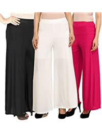 Stylish Casual Wear Pant Palazzo Combo (Pack of 3) - Free Size