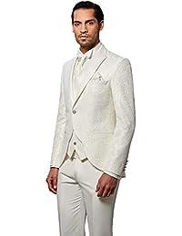 Pablo Cassini Designer Herren Anzug Schwarz Grau Hochzeitsanzug