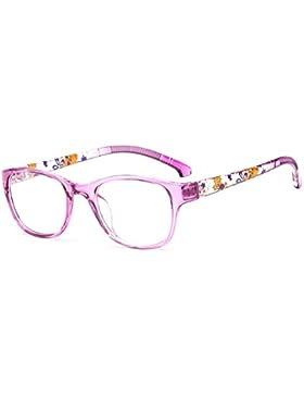 Gafas para niños - Gafas de lentes transparentes marco Geek / Nerd gafas con forma de coche gafas caso - hibote...