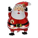Weihnachtsschmuck Santa Claus Christmas Snowman Modellierung Aluminium-Film-Ballon Fliegen Leeren Folie Ballon,1,63 * 45Cm
