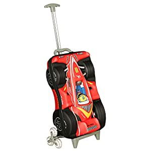 T Bags For Kids 3D Racing Car Red Childers Trolley Bag