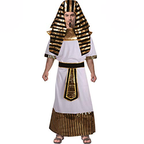 Egyptian Pharaoh Anubis White and Gold Gents Fancy Dress ()