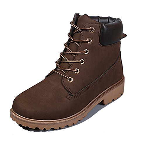 Brinny Herren Outdoor Worker Boots Schnürstiefel Profilsohle Braun