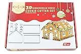 Bibettter Ausstechformen-Set für Weihnachten, Lebkuchenhaus, Edelstahl, 10 Stück