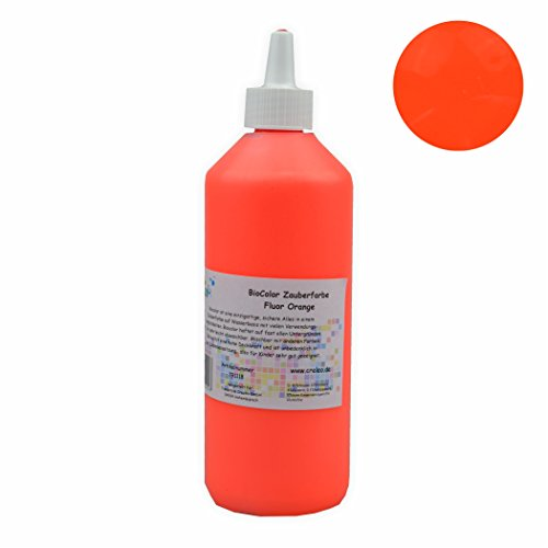 Creleo 791118 BioColor Acrylfarbe - Zauberfarbe Flasche 500 ml Fluor Orange