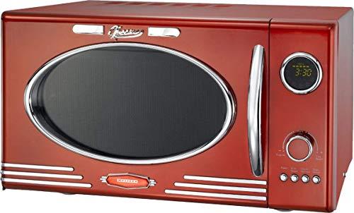 Melissa Diseño Microondas 'Clásico' Retro para su Cocina - Rojo