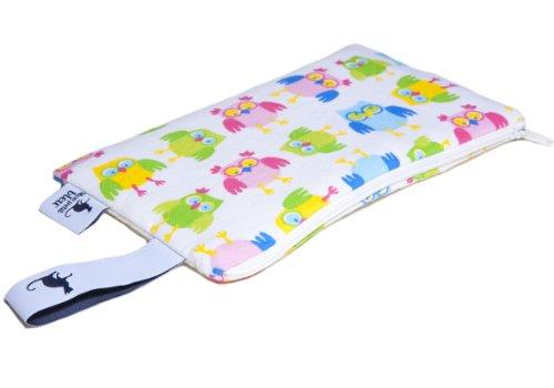 Mon Petit Bleu 5901323929960 Multi Use Bag - Multi-Funktions-Tasche - vielfach nutzbar, waschbar, wasserdicht und sogar lebensmittelecht - Muster Eulen, Größe XS