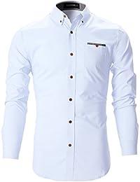 FLATSEVEN Mens Slim Fit Classic Dress Shirts