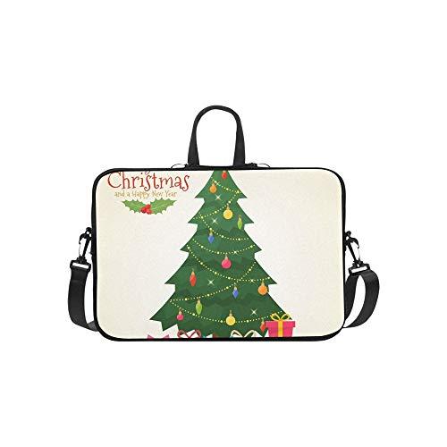 Albero di Natale decorato Scatole regalo Motivo a stelle Cartella per laptop Borsa a tracolla Messenger Borsa a tracolla per affari Viaggiare