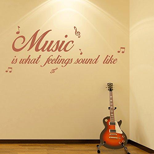 Musik-ist-wie-Gefhle-sich-anhren-Wandaufkleber-Musikzitat-Wandtattoo-Wohnkultur-verfgbar-in-5-Gren-und-25-Farben-Mittel-Burgunder