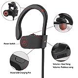 Auriculares Bluetooth Deportivos Fitness - Cascos Bluetooth Inalambricos Correr, Running Manos Libres Cancelación de Ruido in ear micrófono estéreo - Samsung (110 mAh Batería de 8 Hrs)