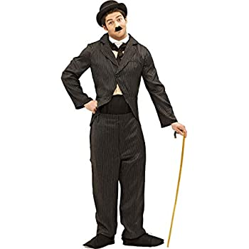 6c5c327cd3af3 Mens Charlie Chaplin 1920s Silent Movie Star Fancy Dress Costume Standard
