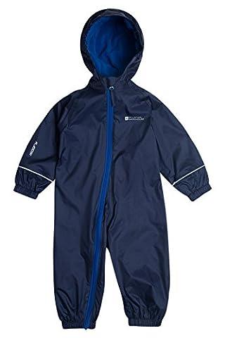 Mountain Warehouse Spright Junior Regenanzug wasserdicht warm mit Kupuze & Reißvershluss Kinder Kleinkind Jungen Mädchen Unisex Marineblau
