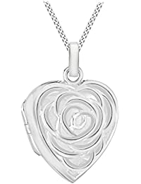 Tuscany Silver Sterling Silver 3 Open Graduated Ovals Pendant on Curb Chain of 46cm/18