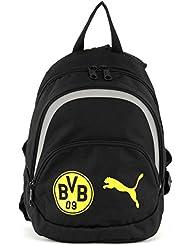 Puma Sac à dos pour enfant BVB Kids Backpack, Puma Black/Cyber Yellow, 22,3x 15x 28cm, 1.0l, 07414901