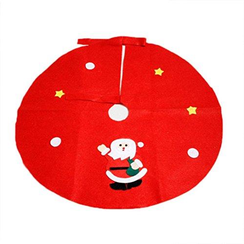 Runde Filz-Baumdecke,BBTXS Schutz vor Tannennadeln Weihnachten Vlies Weihnachtsbaum Röcke Party Dekoration Lieferungen (Dekorationen Und Party Lieferungen)
