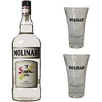 Sambuca Molinari MAGNUM 3 L astucciata + 2 bicchieri MOLINARI OMAGGIO