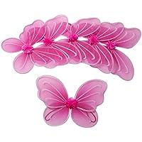 6 Colore Rosa Caldo Fata ali della farfalla per ragazze Costume Dress Up - Ali Di Una Farfalla