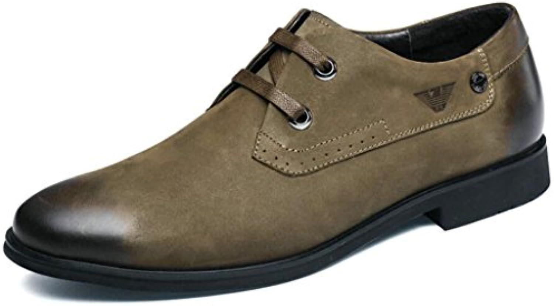 GAOLIXIA Zapatos de cuero de los hombres Zapatos de Derby Zapatos planos de moda de gama alta Zapatos de estilo...