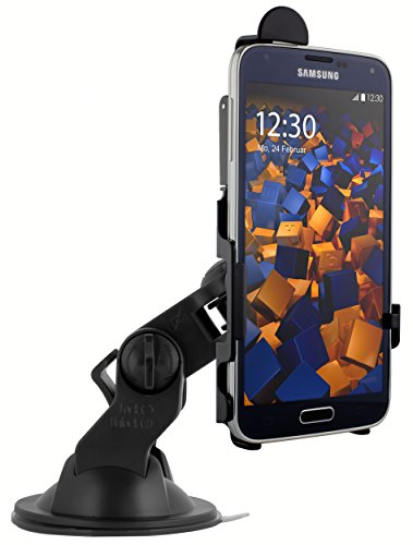 mumbi KFZ Halterung für Samsung Galaxy S5 / S5 Neo  / Autohalterung VibrationsFREI / 90° QUERBetrieb möglich (Für S5 Kfz-halterung Galaxy)