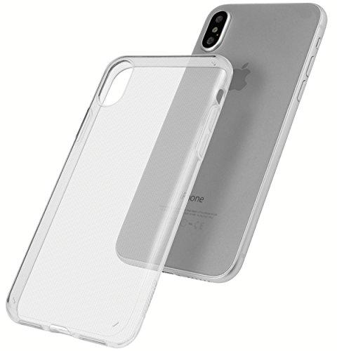 mumbi Hülle für iPhone X Schutzhülle transparent - UV beschichtet + Kameraschutz