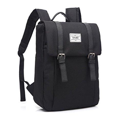 BULAGE Tasche Männer Und Frauen Reisen Rucksäcke Mode Freizeit Schultern Personalisierte Adrett Studenten Schultaschen Laptop Computer Black