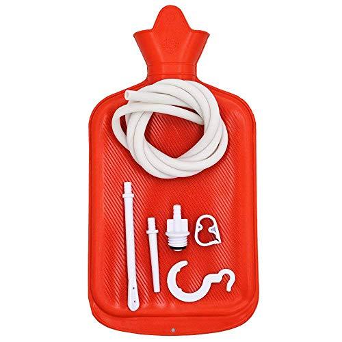 Medizinische Gummi-Einlauf-Beutel-Ausrüstung Für Doppelpunkt-Reinigungs-Wiederverwendbarer Kolon-Installationssatz Mit Weichem Schlauch, Einlauf-Irrigator-Dusch-Dusche Für Mann-Frauen, 2 L,Red