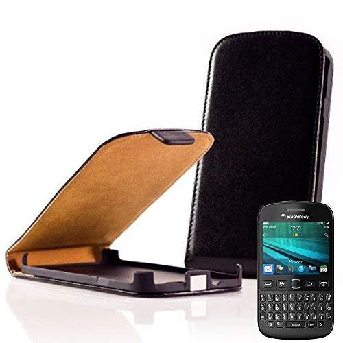 VCOMP Hülle Cover Etui klappbar in Kunstleder für BlackBerry 9720/9720 Samoa - SCHWARZ1