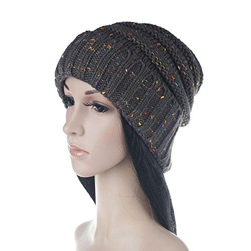 iKulilky Frauen Winter Warm Chunky Dick Gestrickte Hüte Baggy Slouchy Beanie Hut Schädel Cap Hip Pop Dance Hut -