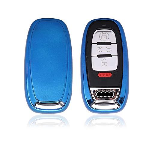 KAKTUS® Smart Key Protection Shell Autoschlüssel Schutzhülle für Audi 3 Tasten Schlüssel (Keyless Version) (Modell S5 Audi)