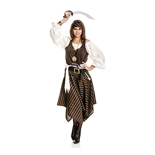 Kostümplanet® Piratin-Kostüm Damen Piraten-Kostüm Größe 52/54