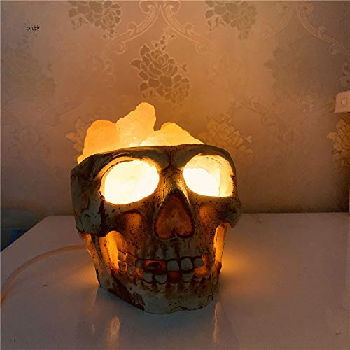 Harz Schädel Salz Tischlampe Für Schlafzimmer Studie Kreative Bar Esszimmer Dekoration Schreibtisch Lampen Halloween ()