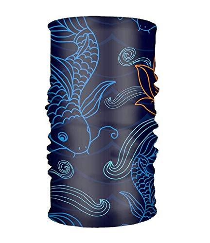 (Walnut Cake Sturmhauben Women Men Blue Fishes Fashion Headscarf Outdoor Sport Headwear Bandanas Multifunction Magic Scarf,Neck Gaiter,Hand Wrap,Neck Balaclava for UV Resistence)