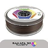 SAKATA 3D - 450g de Filamento PLA 1.75MM, PLA Texturizdo madera/Color Roble para impresoras y pluma 3D. Fabricado en España (Roble - textura de madera)