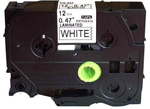 Compatible for Brother P-touch TZe Tz Black on White label tape 6mm 9mm 12mm 18mm 24mm 36mm all size TZe-231 12mm nero/bianco