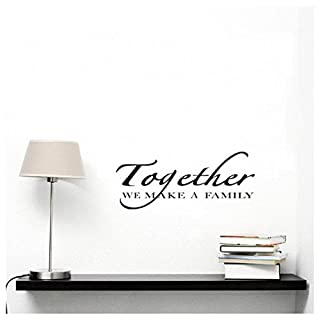 Wall Decal Fuibo Together We Make A Family English Word Wall Stickers Decal Vinyl Art Mural Decor