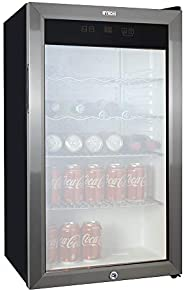 Mini Glass Door Fridge European Style - Digital with PCB
