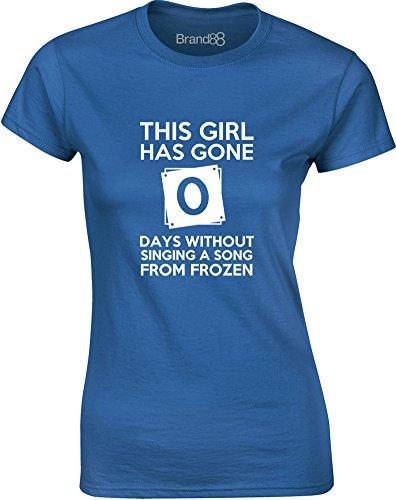 Brand88 - This Girl Has Gone..., Gedruckt Frauen T-Shirt Königsblau/Weiß