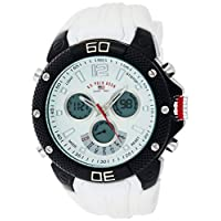 U.S. Polo Assn. Men's White Dial Silicone Band Watch - US9495