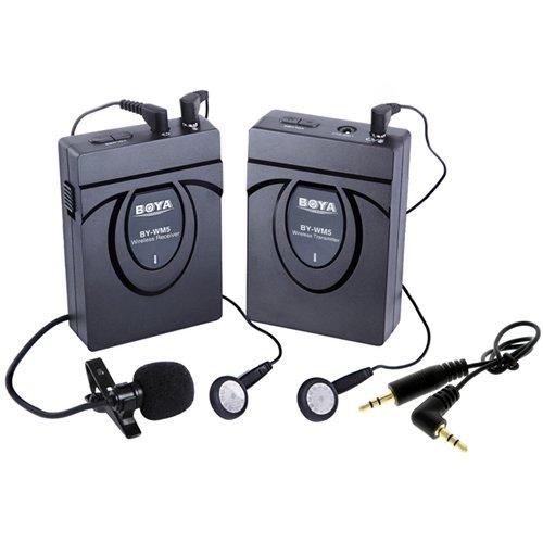 Boya BY-WM5 Kit microphone HF sans-fil + 2x écouteurs
