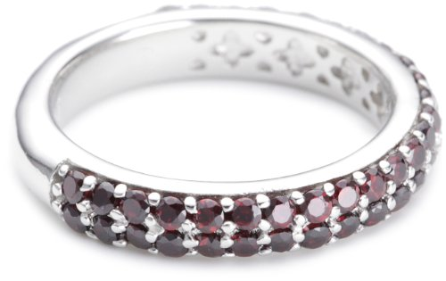 ESPRIT Damen-Ring elegance red 925 Sterlingsilber 54 Zirkonia rot Gr. 16 ESRG91667E160
