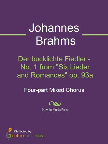 Der bucklichte Fiedler - No. 1 from Six Lieder and Romances op. 93a