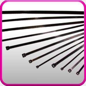 3.6/mm x 200/mm //100/fascette NERE cerniere//cavo