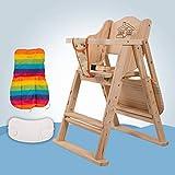 ZLMI Massivholz Babystuhl Portable Folding BB Hocker Mehrzweck-Essens Sitz 0-6 Jahre Alt,Beige,B