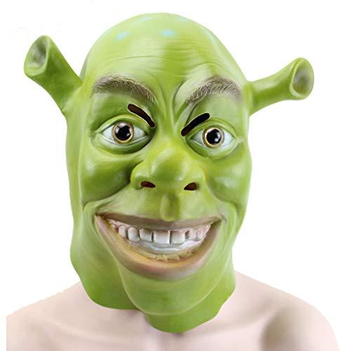 WANG XIN Shrek Maske des Mondes Halloween Maske Latex Material Stereo Promally Party Party Cos Film Maske (Film Halloween Shrek)