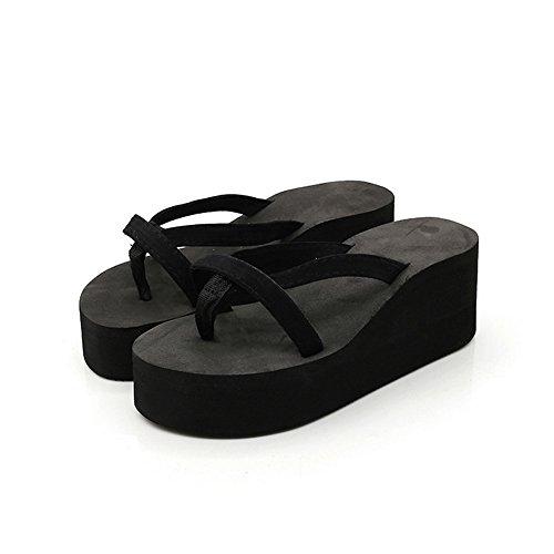 Aelegant Sommer Damen Plateauschuhe High Heels Strandschuhe Flip-Flops Elegante Freizeitschuhe Keile Flip Zehentrenner